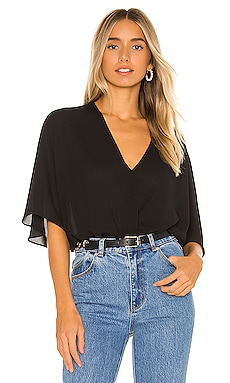 Smocked Waist Surplice Top krisa $79