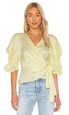 Puff Sleeve Wrap Top krisa $52