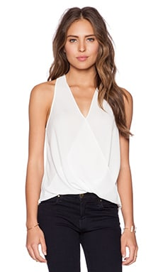 Surplice Racerback Top in Ivory