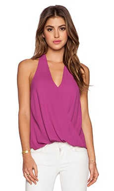 Surplice Racerback Top in Violet