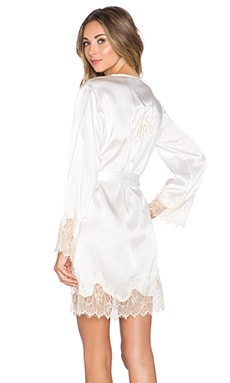 KISSKILL Lucy Silk Bride Robe in Ivory