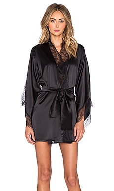 KISSKILL Cheyenne Silk Robe in Black