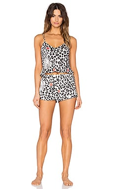 KISSKILL Regina Short & Cami Set in Leopard