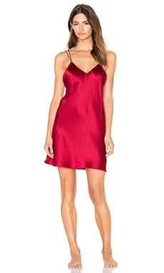 Rhiana Silk Slip in Dark Red