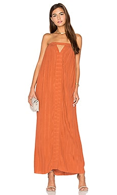 Pleat Scrunch Corset Dress in Rust