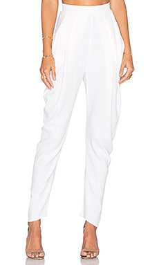 Draped Trouser in Ivory