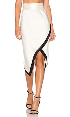 The Go Too Skirt in Cream & Black