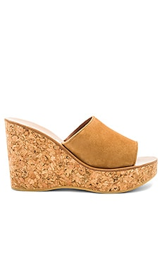 Timor Wedge in Velours Bran