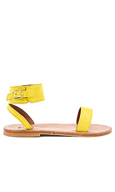 Saratoga Sandal in Velours Amarillo