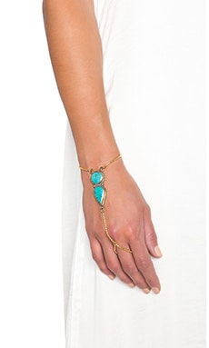 Karen London Apache Hand Chain in Gold