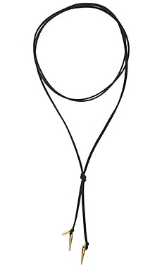 Karen London Orbit Necktie in Gold & Black