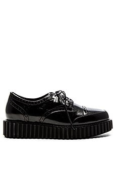 Wonda Oxford in Black Leather