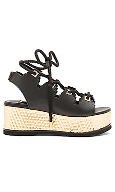 KAT MACONIE Eva Sandal in Black & Gold