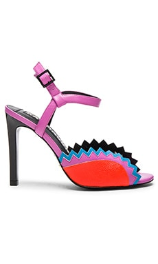 Gretchen Heel in Pink, Red & Blue