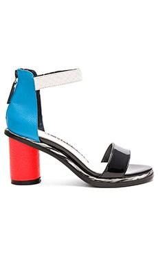 KAT MACONIE Neive Sandal in Red, Blue, Black, & White