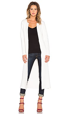 Kathryn McCarron Matilda Long Cardigan in White