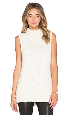 Kathryn McCarron McKenna Oversized Sleeveless Sweater in Cream