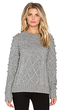 Kathryn McCarron Oliver Popcorn Knit Sweater in Grey