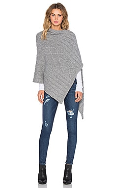 Kathryn McCarron August Cable Knit Wrap in Grey