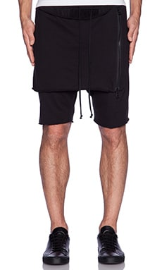 knomadik by Daniel Patrick Shield Shorts in Black