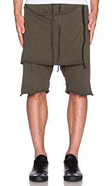 knomadik by Daniel Patrick Shield Shorts in Army