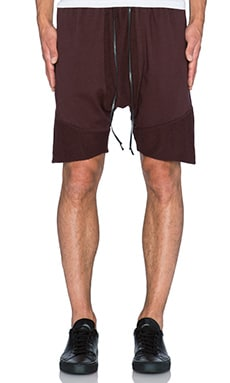 knomadik by Daniel Patrick Roaming Jogger Short in Burgundy