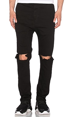 knomadik by Daniel Patrick Ripped Skinny Jean in Black
