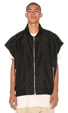 knomadik by Daniel Patrick Hero Sleeveless Bomber in Black