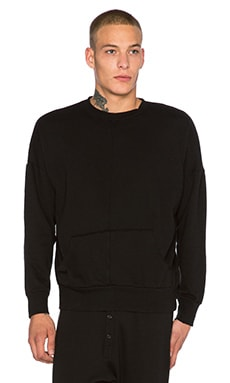 knomadik by Daniel Patrick Hero Sweat in Black