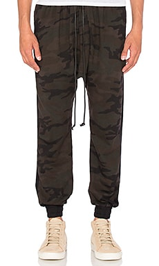 Daniel Patrick Roaming Track Pant in Dark Camo