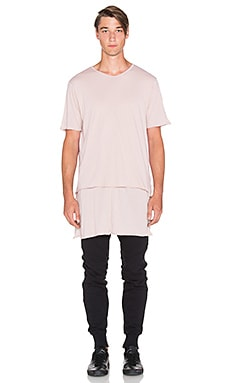knomadik by Daniel Patrick Knomad Layered Tee in Desert Rose