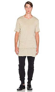 knomadik by Daniel Patrick Knomad Layered Tee in Sand