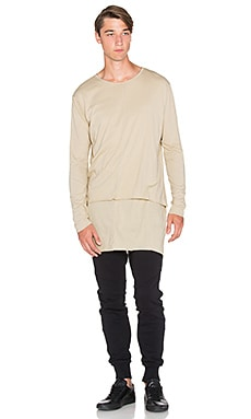 knomadik by Daniel Patrick L/S Layered Tee in Sand