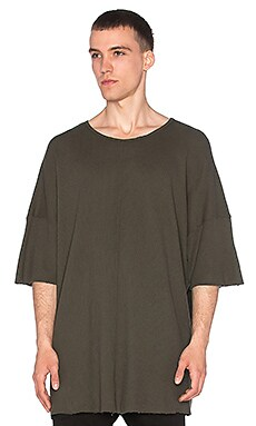 knomadik by Daniel Patrick Oversized Thermal Tee in Army