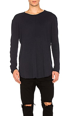 Купить Теплый пуловер с длинным рукавом и круглым вырезом - Daniel Patrick, Длинный рукав, США, Синий
