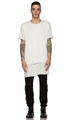 knomadik by Daniel Patrick Knomad Layered Tee in White