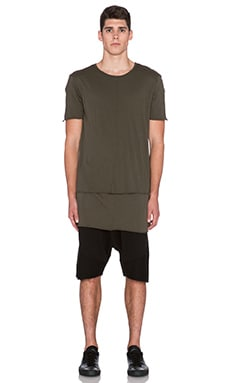knomadik by Daniel Patrick Knomad Layered Tee in Army