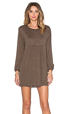 Knot Sisters Clark Dress in Pale Rose & Black Stripe