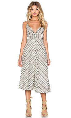 Knot Sisters Tulum Dress in Cream & Black Stripe