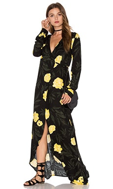 Knot Sisters Daphene Dress in Golden Peonies