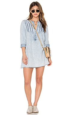 Knot Sisters Penny Dress in Chambray Stripe
