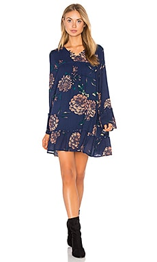 Langley Dress in Navy Floral