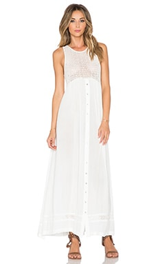 Knot Sisters Silverlake Dress in Blanco White