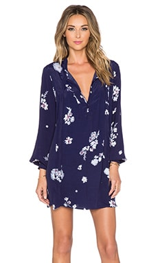 Knot Sisters Valley Mini Dress in Navy Floral Print