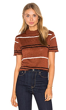 Costal Sweater in Rust Stripe