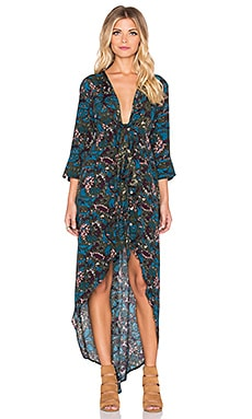 Knot Sisters Morrison Kimono Dress in Dark Floral