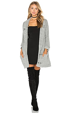 El Captin Sweater Coat in Grau meliert