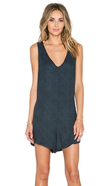 Knot Sisters Morocco Romper in Navy