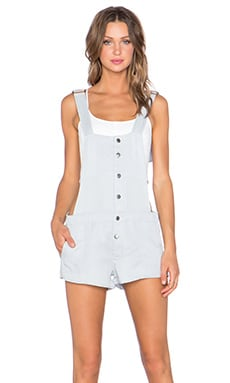 Knot Sisters Scout Overall in Light Wash