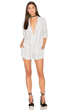 Knot Sisters Farrah Romper in Off White